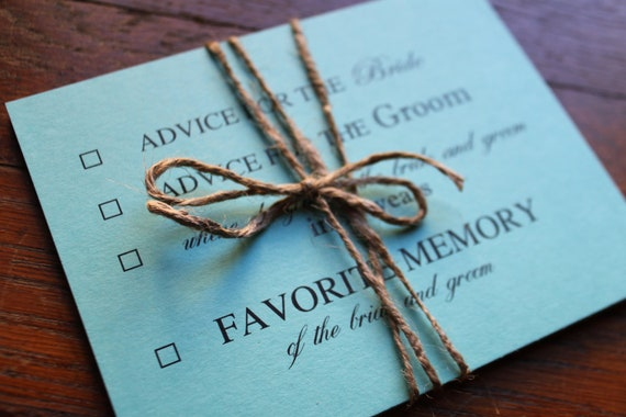 Wedding Advice Advice Cards Words Of Wisdom By Decadentdesigns