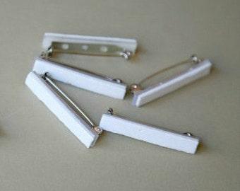 Silver Plated Padded Adhesive Pin Backs Qty 3, Pin Findings, Pin Backs