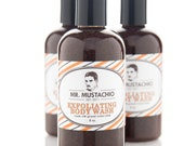 SALE - 1/2 off! - Exfoliating Body Wash - Mr. Mustachio - 100% pure essential oil scent - sweetpetula