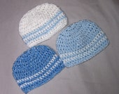 Creme Brulee Baby Boys Trio of  Hats