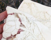 Wedding Gloves - Vintage Capretto Lavabile Leather Gloves - Very Soft Italian Ivory Kid Leather with Intricate Lace Cutwork