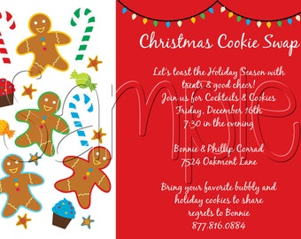 25 5x7 Holiday Christmas Party Invitations