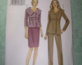 Vogue Misses Jacket/Skirt/Pants Sz 14-22    V8715   Uncut