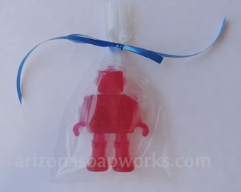 25 Robot Soaps - Party Favor - Birthday - Individually Wrapped