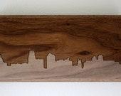 Kansas City Skyline. - 4x8 - Walnut