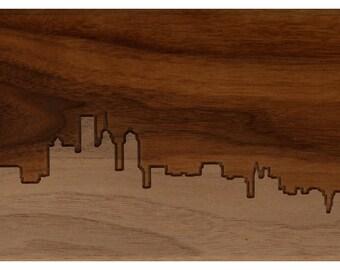 Philadelphia Skyline 6x18 - Walnut