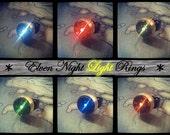 White Skyrim Inspired Elven Night Light Ring - Adjustable