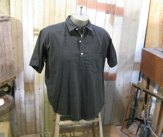 Prep Black vintage shirt  vintage 50s Penneys Towncraft cotton short sleeve L