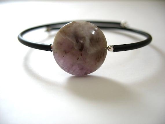Amethyst Bracelet, Amethyst Stone Bounce Back Bracelet, Handmade Amethyst Jewelry, Free Shipping