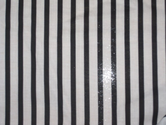 Black And White Striped Two Tone Cotton Fabric 2 By Jamieseto