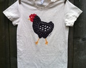Dotty Chicken Organic Women's Fashion Tee Sizes S, M, L, XL, 2XL
