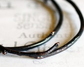 Handmade Red Copper Twig Bangle Bracelet  Unisex Woodland Jewelry