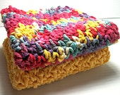 Crocheted Dishcloths, Fiesta Brights