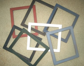 Primitive (distressed)  picture frames lots of 3 each your choice of 3x3's to 7x7's