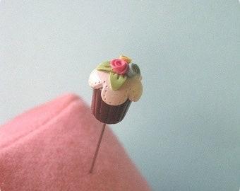 Shabby Rosette Cupcake Pin Topper