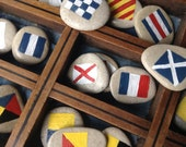 NAUTICAL ROCKS...personalized painted stones,pebbles,ship boat, wedding supplies,name keepsake,gift guide