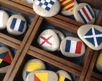 NAUTICAL ROCKS...personalized painted stones,pebbles,ship boat, wedding supplies,name keepsake,gift guide