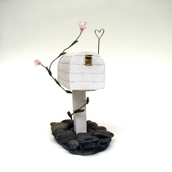 You've Got Mail, Honey - Shabby Chick Rustic Pebbles Proposal Wooden US Mailbox Ring Box by Tanja Sova