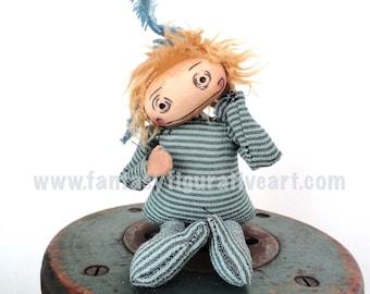 Adele Blue Goth girl bjd prop art doll nursery girls room decor