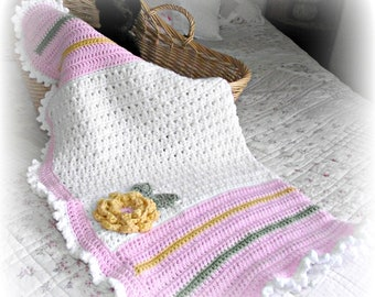 Cottage Rose Crochet Blanket