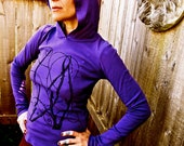 Celtic Purple Bramble Hoodie Sale Made in USA Small Only
