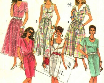 Medium Sizes 90s Dress Sewing Pattern Ladies Summer Dress pattern