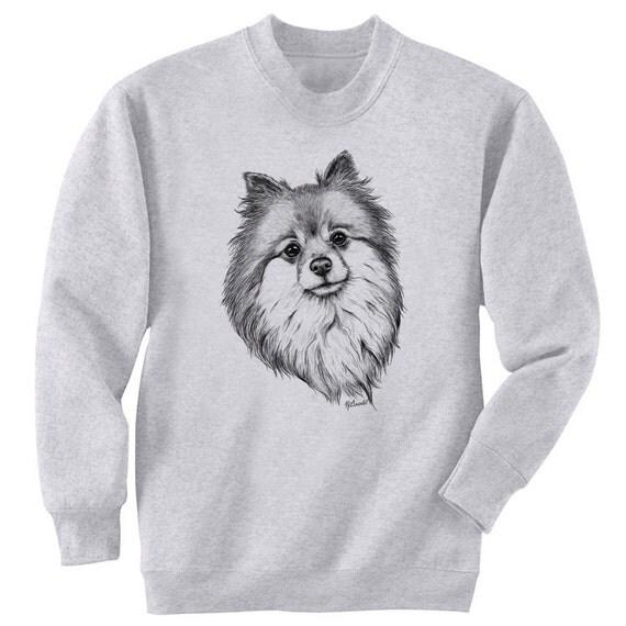 Pomeranian Dog Art Men's Sweatshirt Small - 2XL