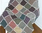 Rag Quilt Kit DIY Prefringed Medium Throw Lap size 45x50 Gorgeous Homespun Scrappy Plaid