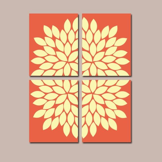 Items Similar To Bedroom Wall Art Bathroom Canvas Flower