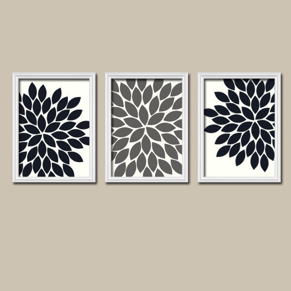 Black And White Wall Decor For Bedroom : Black white grey wall art bedroom pictures canvas or prints