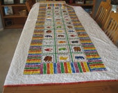 Twin Sized Brown Bear Quilt for a Boy with a pillow and matching pillow case With or Without Book