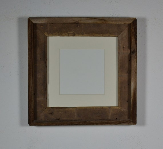 Barnwood photo frame 8x8 white 5x5 mat  great for that just bought print