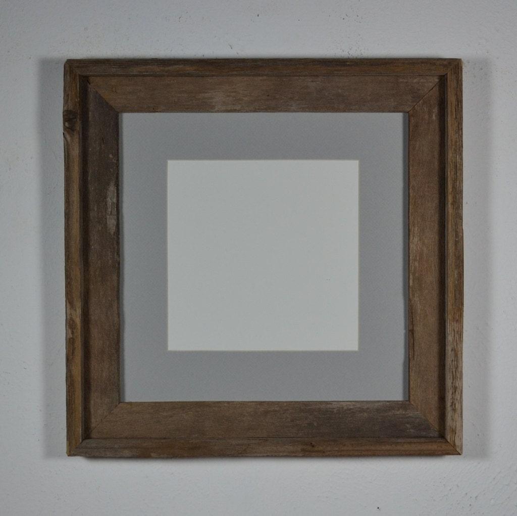 Barnwood Frame 12x12 With Light Gray Mat For 8x8 Photo