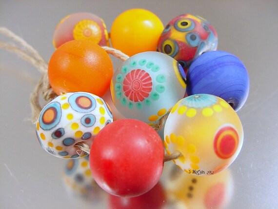 Handmade lampwork glass beads Avas Bead Garden---mAsTeR oF DiSgUiSe---SRA