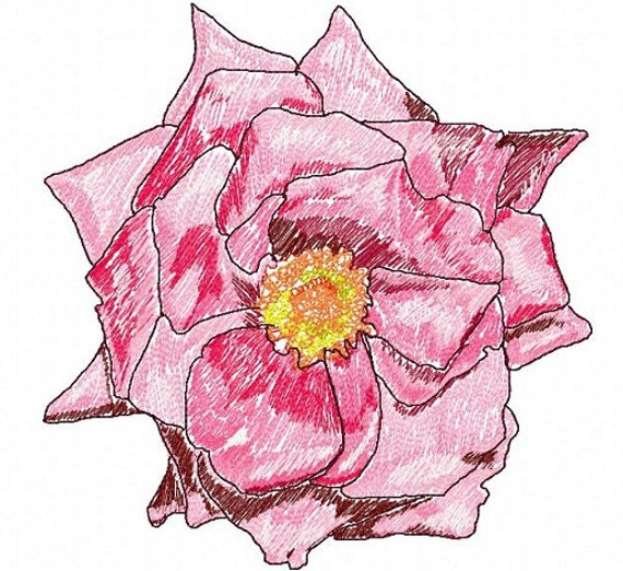Letzrock Machine Embroidery Designs Freehand Flower2446