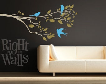 Spring Tree Branch Wall Decal, Tree Branch Wall Decor, Branch Sticker, Tree Branch Wall Art