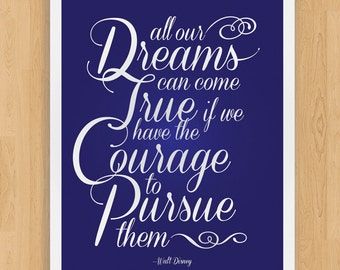 Dreams and Courage - 11x14 Nursery Art Print