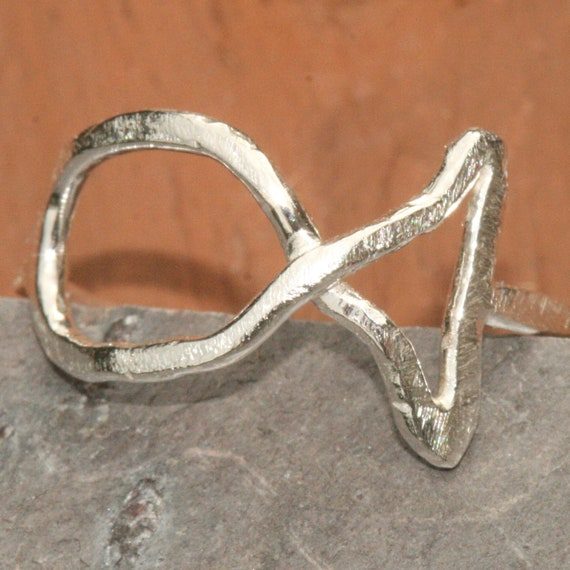 ichthus jesus fish ring silver us size by