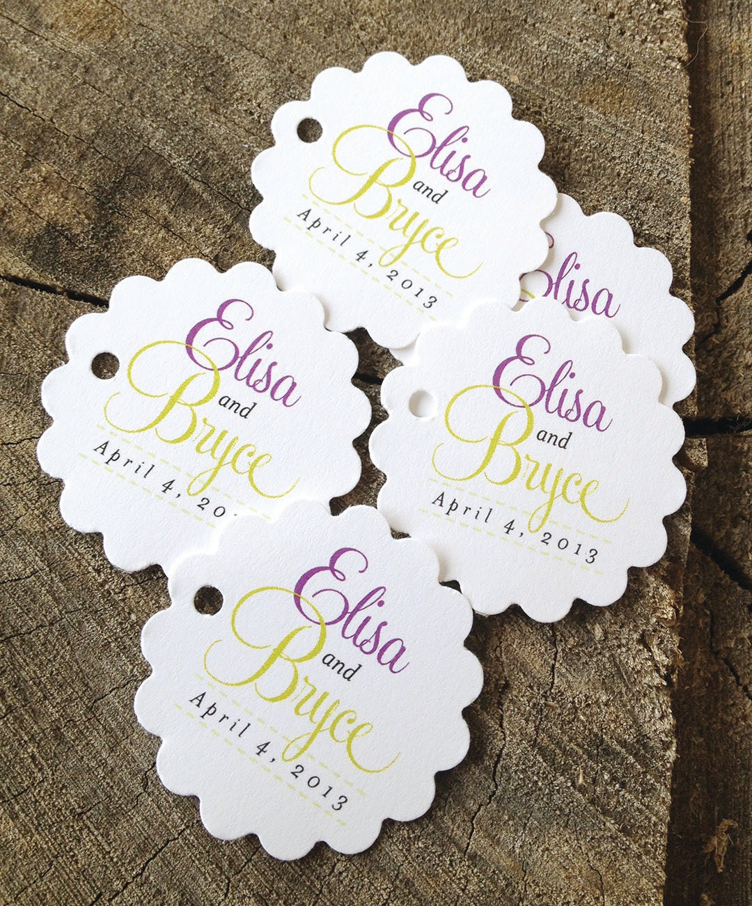 Wedding Gift Thank Yous: Script Wedding Favor Tags Thank You Tags By DesignCircus