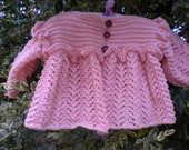 Ruffle and Lace Baby Girl Sweater
