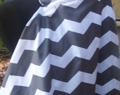 Nursing Cover- Gray Chevron Free Shipping on Second Item