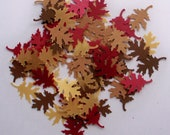Paper Oak Leaves Hand Punched Die Cut Fall Colors