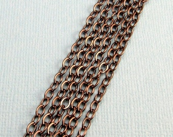 Flattened Cable Chain Soldered 3mm Gunmetal 6' GM9