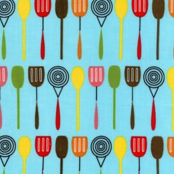 "last one 39"" Spatula Kitchen Fabric Everthing Nice by Robert Kaufman"