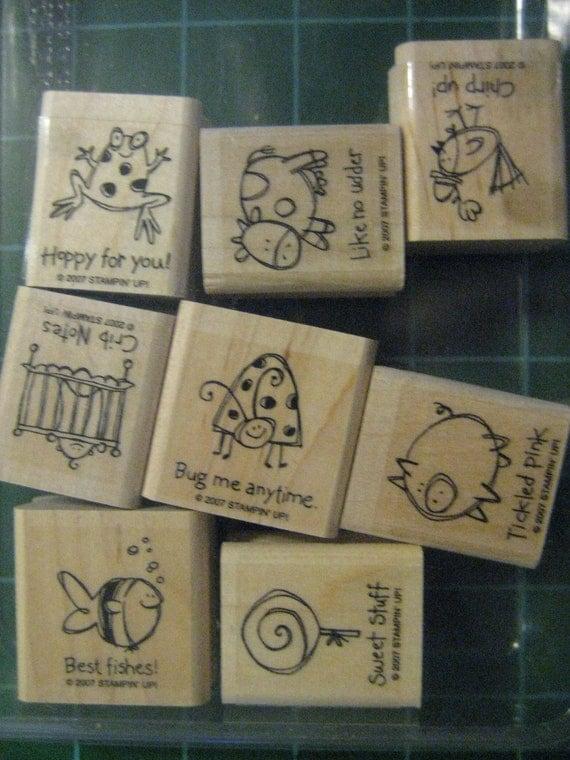 Destash: Stampin Up Very Punny Wood Mounted Stamps