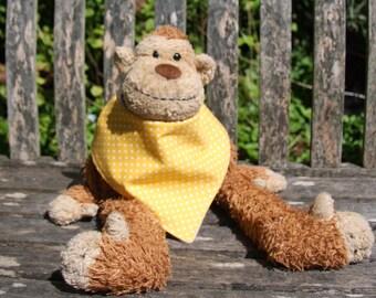 SALE Sunshine yellow polka dot bandana dribble bib