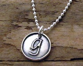 Initial Necklace Letter Charm - Silver Initial Pendant - Eco-Friendly