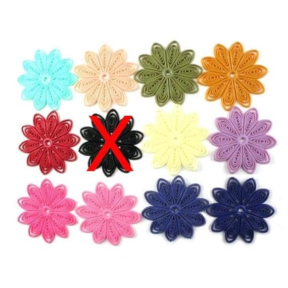 Flexible Plastic Filigree Flowers 45mm Matte Sampler (11) PB082