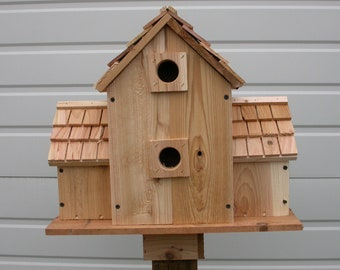 Bluebird BIRDHOUSE With 6 COMPARTMENTS round holes