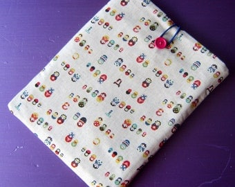 Ipad cover cozy sleeve padded in russian doll fabric fits all ipad 1 2 3 4